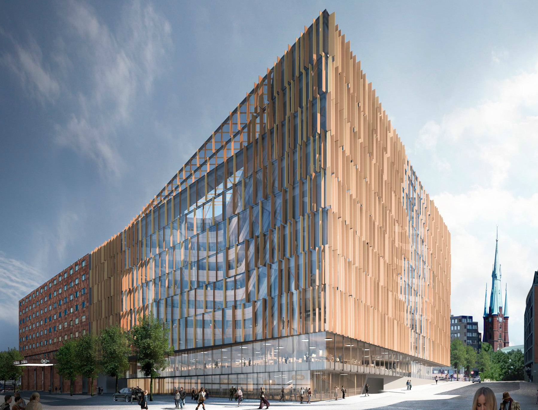 stockholm office. Swedish Office Specialist Slussgården Has Acquired An Project Being Built By Skanska In Central Stockholm For Undisclosed Sum.